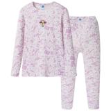 迪士尼 Disney 女童儿童乳白舒木尔圆领长袖内衣套 28718D0 乳白 110