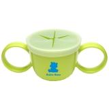 小白熊 宝宝防泼洒零食杯碗 婴儿带手柄可抓取食物碗 09039