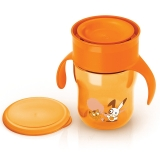 飞利浦新安怡 英国品牌 AVENT 自然啜饮杯9安士/260ml 12月以上宝宝适用橙色/紫色SCF782/30
