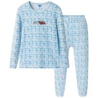 迪士尼 Disney 男童儿童白印蓝舒木尔圆领长袖内衣套 28683D0 白印蓝 110