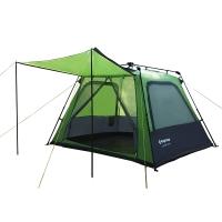 康尔(KingCamp)帐篷 户外露营3-4人 全自动速搭三季单层帐篷 KT3096 绿色