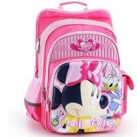 迪士尼(Disney)米奇减负双肩包3D儿童书包1-4年级 20123 米妮玫红