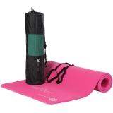 弥雅 瑜伽垫 加厚15mm加长加宽运动健身垫子 185*80cm玫红色(含绑带网包)