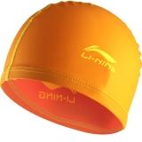 李宁 LI-NING 儿童泳帽 PU游泳帽涂层 柔软舒适可爱 男女童 LSJL863橙色