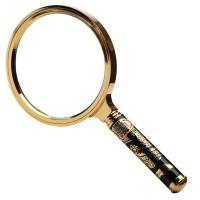 JHOPT巨宏 90MM高倍阅读放大镜 手持式金边龙柄阅读放大镜 好品质送老人