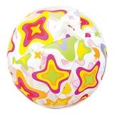 INTEX 59040儿童流行海滩戏水球玩具球沙滩球 透明充气球手球 颜色随机