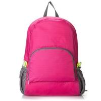 四万公里 皮肤包户外背包可折叠双肩包女男旅行登山包运动背包 SW1017 玫红色