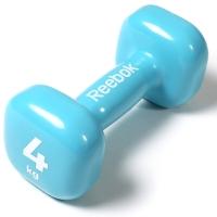 锐步(Reebok)包胶哑铃举重力量训练小哑铃RAWT-11154 蓝色-4kg