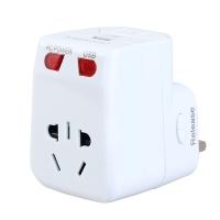 加加林(JAJALIN) 全球通转换插座 万能转换插头 USB充电器 出国旅游旅行电源转换器 白色