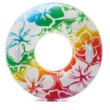 INTEX 58263充气游泳圈成人加厚大人加大浮圈大号腋下男女救生圈花色透明浮圈直径97cm 颜色随机