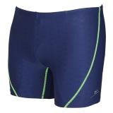 弈姿EZI溫泉專業運動競技加大碼 男士平角游泳褲 藏青色 XL 8059