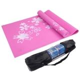 凯速PVC印花 173*61cm防滑防潮健身瑜伽垫 6MM 桃红色 (送手提包)