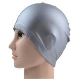叶兹YZZ-18游泳运动 成人 PU涂层泳帽 灰色
