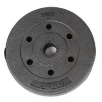 凯速KANSOON环保杠铃片举重配重环保包胶哑铃片2.5公斤(2.5kg孔径28mm单片装)新款
