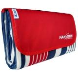 凯速KANSOON户外防水野餐垫防潮垫帐篷内垫子地垫露营休闲坐垫绒面2X2米(红蓝条)