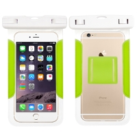博沃尼克 手机防水袋防水套 游泳包防水包潜水套 加大款果绿色