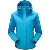 埃尔蒙特 ALPINT MOUNTAIN 户外女款两件套三合一保暖冲锋衣 620-606 天蓝 S