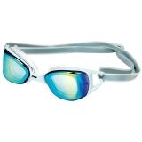 李宁 LI-NING 镀膜游泳镜 男女士电镀泳镜 高清防水防雾游泳眼镜 566-3灰色