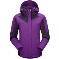 埃尔蒙特 ALPINT MOUNTAIN  户外女款两件套三合一保暖冲锋衣 620-606 紫色 L