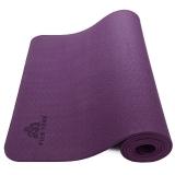 皮尔瑜伽TPE6mm防滑单色瑜伽垫深紫色 附带背包