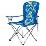 康尔KingCamp折叠椅 折叠凳 午休椅 户外野餐休闲扶手便携款KC3818棕榈蓝