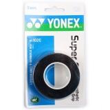 尤尼克斯YONEX 運動吸汗帶握手膠AC-102C-007 黑色 三條裝