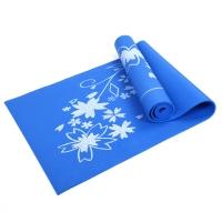 凯速PVC印花 173*61cm防滑防潮健身瑜伽垫4MM 蓝色