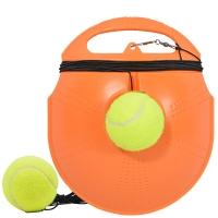 靓健网球训练器 单人初学网球练习 训练网球2个+底座 黄色
