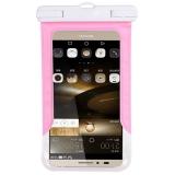 加加林 手机防水袋 潜水手机套 手机袋游泳防水套 游泳包防水包  粉色大号5.0-6.0寸手机