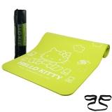 凯蒂猫(Hello Kitty)加厚10mm加长初学者健身垫加宽防滑瑜伽垫HBD50550 果绿