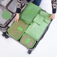 四万公里 旅行收纳袋防水行李分装整理包 出差衣物收纳整理袋内衣收纳包 6六件套装 SW1003 绿色