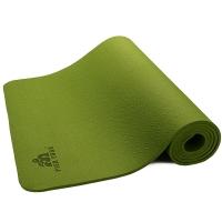 皮尔瑜伽TPE6mm防滑单色瑜伽垫绿色 附带背包