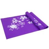 凯速PVC印花 173*61cm防滑防潮健身瑜伽垫4MM 紫色