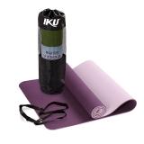 IKU瑜伽垫10MM加厚TPE健身垫男183cm*61cm仰卧起坐
