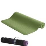 IKU 183CM*80CM 加厚8mm妈咪环保高品质TPE瑜伽 健身垫 加宽防滑瑜珈垫 绿色