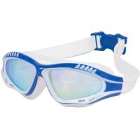 李宁 LI-NING 大框镀膜游泳镜 高清防雾防水眼镜男士女士电镀一体泳镜 628白蓝
