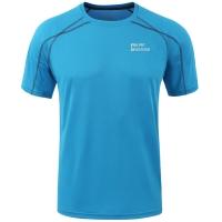 埃尔蒙特ALPINT MOUNTAIN 户外T恤快干速干透气圆领短袖速干衣T恤体能训练服 640-511 天蓝 L