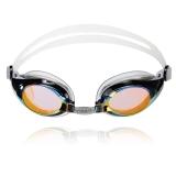 速比涛speedo 镀膜游泳镜 高清防雾防水眼镜男士女士电镀泳镜11301834