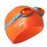 速比涛speedo 儿童泳镜泳帽套装6-10岁青少年游泳2件套 男女童游泳装备41560818