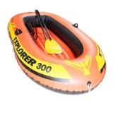 INTEX 58332探险者三人充气船 钓鱼船橡皮艇 送船浆打气泵211*117*41cm