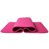米客(MIKE)MK1812-B-10mm 运动垫瑜伽垫健身防滑无味仰卧起坐垫 初学瑜珈垫瑜伽毯加厚男女
