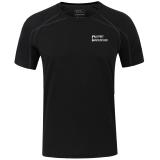 埃尔蒙特ALPINT MOUNTAIN 户外T恤快干速干透气圆领短袖速干衣T恤体能训练服 640-511 黑色 XXL