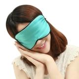 加加林 真丝眼罩 桑蚕丝眼罩 透气舒适睡眠眼罩 粉蓝色
