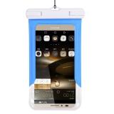 加加林 手机防水袋 潜水手机套 手机袋游泳防水套 游泳包防水包 天蓝色 大号5.0-6.0寸手机