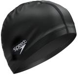 速比濤speedo泳帽 PU材質升級版 超柔軟舒適游泳帽 男女士耐用 佩戴舒適黑色21401999