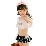奇海(QIHAI)6601-6 新款大码儿童游泳衣分体女童性感波点韩版温泉泳装粉色XXL码