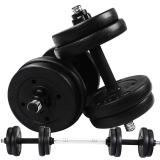 华亚(HUAYA)环保哑铃 10公斤可自由拆卸调节 健身器材
