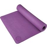 奧義瑜伽 183*80cm加大瑜伽墊 加厚防滑8mm環保TPE健身墊 附帶背包 紫色