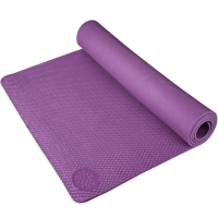 奥义瑜伽 183*80cm加大瑜伽垫 加厚防滑8mm环保TPE健身垫 附带背包 紫色