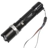 锐豹(RAY-BOW) RB-001 铝合金强光充电手电筒 进口CREE灯泡三档调光 黑色